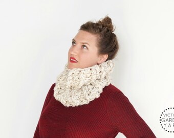 THE BRACKISH COWL | 20 Color Choices | Textured Knit Cozy Chunky Infinity Cowl