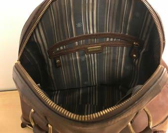 Vintage leather handbag banana republic large