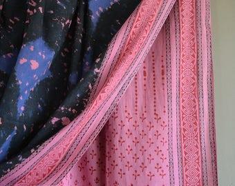 Khadi saree,hand block printed khadi muslin sari, hand-spun and handwoven khadi sari ,cotton saree, khadi fabric