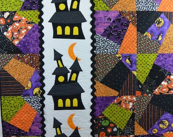 Sweet Halloween Haunted House Crazy Quilt