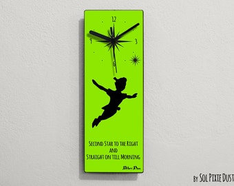 Peter Pan - Second Star to the Right and Straight on till Morning - Wall Clock