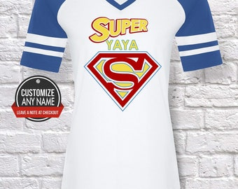 Super Yaya, Grandma Gift, Yaya Birthday, Mother's Day, Yaya Tshirt, Yaya Gift Idea, Baby Shower,