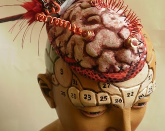 Mad Science Brain Fascinator. Steampunk.