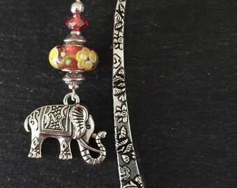 Elephant Murano Beads Bookmark