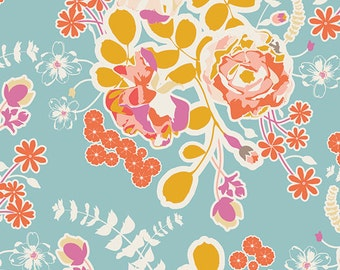 Orchard Blossom in Spring, Sweet as Honey, Bonnie Christine  Art Gallery Fabrics