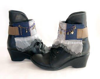 Boho boot cuffs/fantastic boot cuffs