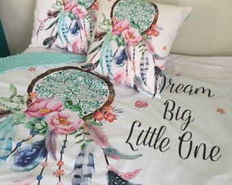 Dream Big Little One - Minky Dream Catcher Blanket - Cot/Crib size