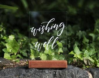 Wedding Wishing Well Sign. Acrylic Wedding Signs. Gifts Signage. Decorations. Perspex Wedding Signage. Wedding Wishes. Wedding Cards.
