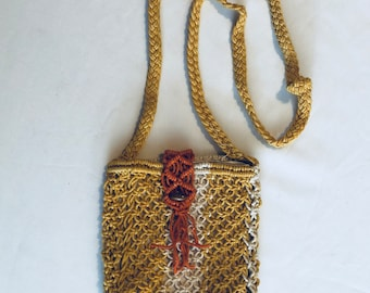 Small Hand Woven Rope Purse