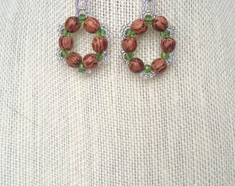 Spring Wreath Earrings 2