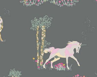 Fantasia Collection by Sara Lawson/Unicorn Fable Sageplant/ Art Gallery Fabrics / Art Gallery Voile