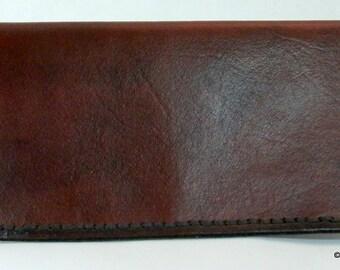 Genuine Leather Credit Card Checkbook Wallet