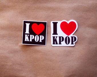 K-pop Sticker| I love K-pop| Korean pop