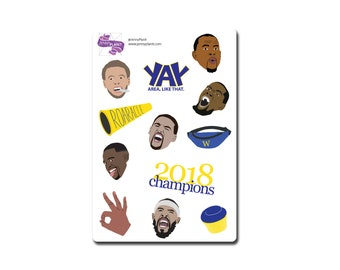 Kevin Durant // Stephen Curry // Golden State Warriors // Basketball // Stickers