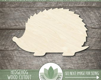 Hedgehog Wood Cutout, Laser Cut Wooden Hedgehog Shape, Hedgehog Party Favors, Hedgehog Wall Decor, Unfinished Wood For DIY Projects