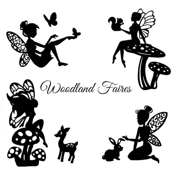 Woodland Fairy Die Cut Silhouette Fairy Cutouts X 9 Or