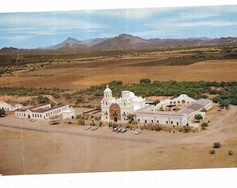 Vintage Western United States Arizona Chrome Postcard San Xavier Del Bac near Tucson UNUSED