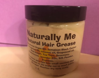 Hair Grease with fragrance oil Oatmeal Milk and Honey, Island Escape and Strawberry Kiwi 2 oz  and 4 oz and 8 oz also in 16 oz