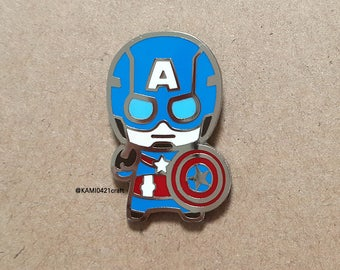 Gingerbread CAPTAIN AMERICA enamel pin