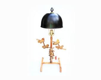 Tri-Angle Steampunk Lamp
