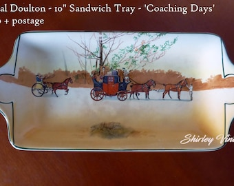 Royal Doulton Coaching Days Sandwich Tray