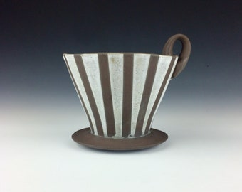 Striped Coffee Pour Over