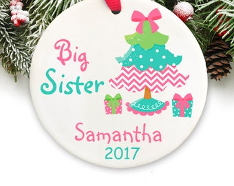 Personalized  Christmas Ornament Personalized Keepsake Ornament  Big Sister Personalized Christmas Ornament GIFT BOX  Included