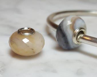 Botswana Agate Gemstone European Bead
