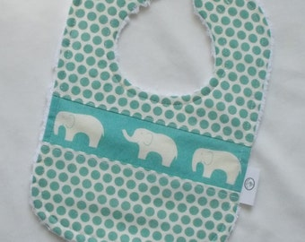 Organic Pool Ellie the Elephant and Dots Chenille Bib
