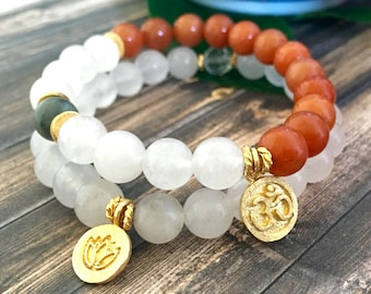 Rutilated Quartz Yoga Bracelet Stack