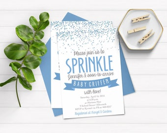 Baby Sprinkle Invitation - Baby Shower Invitation - Boy Sprinkle Invite