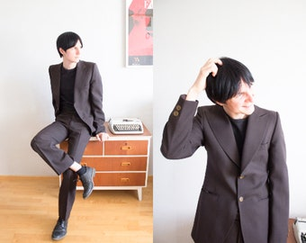 Men's Finnish Brown Vintage  Suit From 70s Size 44 S