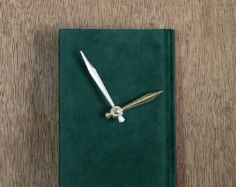 Book Clock - Forest Green