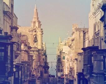 Valletta Photography, Malta Photography, Maltese Architecture, Valletta street print, Valletta print, Maltese street, Maltese balcony print