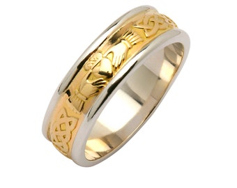 Irish Corrib Claddagh Wedding Ring