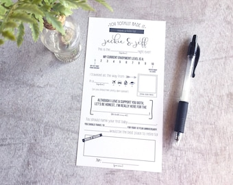 Wedding Advice Cards, Questionnaire, Printable, Reception Wedding Table Cards,