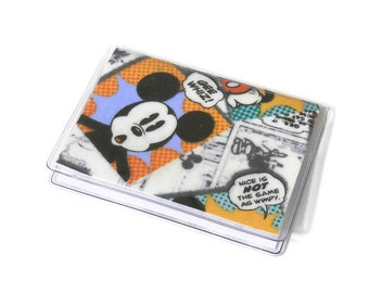 Card Case Mini Wallet Mickey Mouse Comics