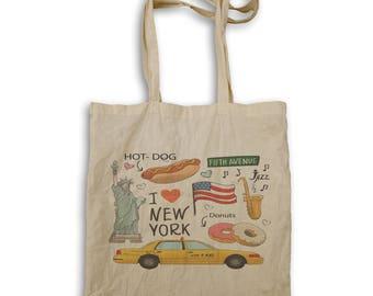 I Love New York Funny Novlety New Tote bag k96r