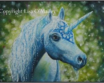 "ACEO Print -""Starburst"" Unicorn"