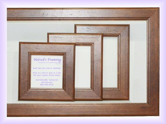 Walnut Picture Frames from 4x4 20x30 or Larger Custom