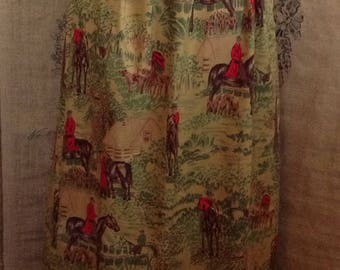 1980's Cambridge Dry Goods long skirt equestrian dog horse