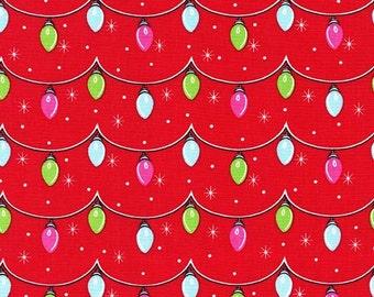 Michael Miller AllThe Trimmings Santa Twinkly Lights fabric - 1 yard