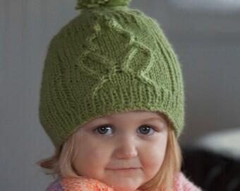Hat Knitting Pattern PDF, Kid's Hat pattern, Frog Hat Pattern, Kid's Frog Hat, Knitted hat pattern, Kid's knitted hat, Rib-It Hat Pattern