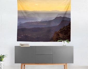 Southwest Wall Tapestry, Desert Tapestry, Grand Canyon, Southwest Decor, Landscape Tapestry, Large Wall Art, Sunset Tapestries, Flagstaff