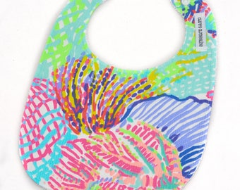 Lilly Pulitzer Bib - Lilly Pulitzer Roar of the Seas Bib  - Ready to Ship