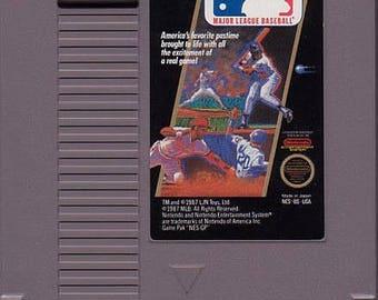 Vintage MAJOR LEAGUE BASEBALL Nintendo Nes Game Cartridge