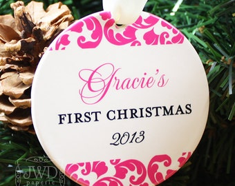 My First Christmas Ornament Baby's First Christmas Ornament Newborn Keepsake Ornament - Kirkland Pattern - Item# KIR-B1-O