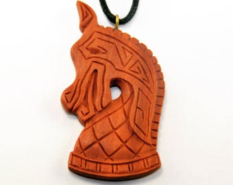 Ancient Knight Pendant - Hand Carved Pendant - Necklace - Pendant