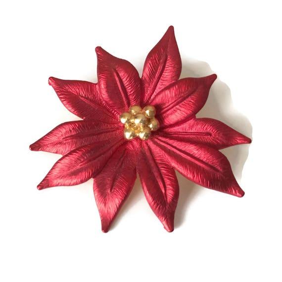 Holiday flower pin - Metallic BTundXwC