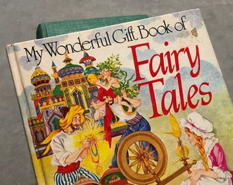 Fairy Tales Book Vintage Distressed Children's Stories Cinderella Rapunzel